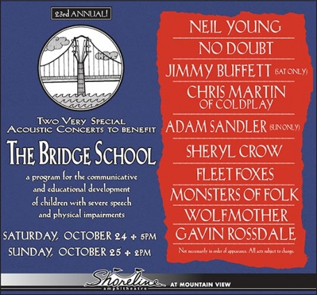Bridge School line-up